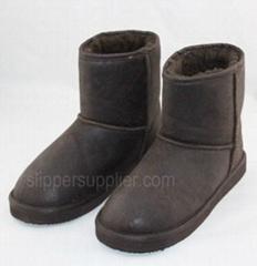 Mens crack microsusede boots