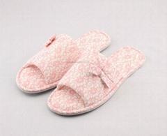 ladies printed lace jersey open toe mule