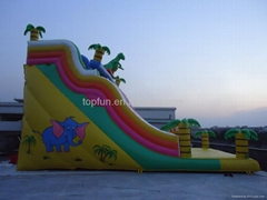 popular customized giant PVC inflatable silde