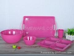 solid color melamine tableware