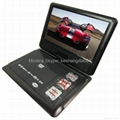 9 inch portable dvd player with TV tuner evd player 2