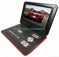 9 inch portable dvd player with TV tuner evd player 4