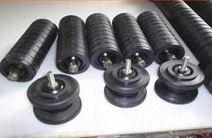 rubber lagging idler roller for for belt conveyer systerm