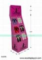 拖鞋促销用纸质展示架,可印刷各