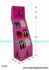 拖鞋促销用纸质展示架,可印刷各种图案