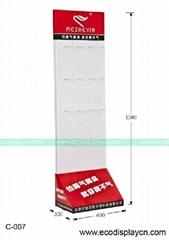 抗菌袜子瓦楞纸制展示架