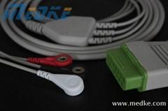Nihon Kohden one-piece ECG cable