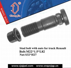 Truck Renault Stud bolt with Nuts  OEM:611490580