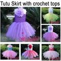 Wholesale Girl Tutu dress with 6 Chochet
