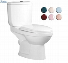 HT215 Washdown Two Piece WC Closet Color For Choose Toilet