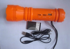 torch with usb speaker