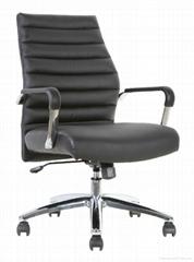 Office metal chair chrome good PU ergonomic design manager executive boss chair