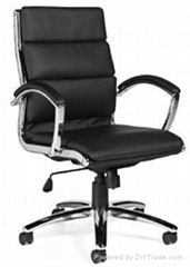 Office metal chrome manager executive boss lady chair ergonomic design tilt