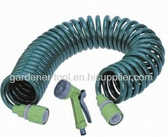 30M Garden Water Hose With 4-Pattern Hose Nozzle