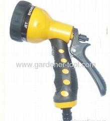 Plastic 7-function trigger garden water nozzle