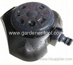 Metal 8-way stationary sprinkler for garden irrigation