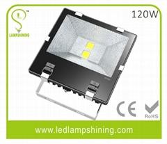120w retrofit led flood light - outdoor IP65 - meanwell - bridgelux - 10200Lm -