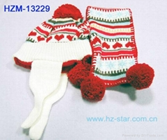 children knitted winter scarf hat set
