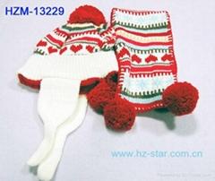 children knitted winter scarf hat set