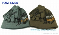children baby knitted hat glove set