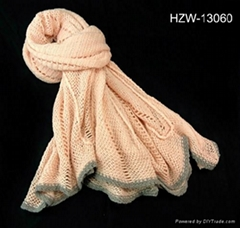 lady knitted scarf