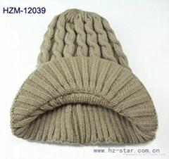 MEN KNITTED HAT WARMER