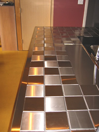 Steel Wall Tile-Kitchen Countertop - Ice Cube (China Manufacturer ...