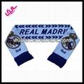 jacquard knitting football fan scarf