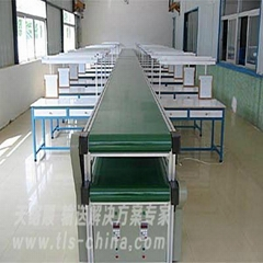 Rubber conveyor belt production line for light products