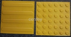 Plastic tactile tiles