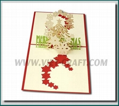 Christmas pop up 3D greeting card