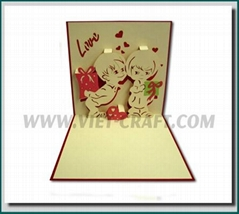 Love pop up 3D greeting card