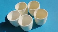 Alumina ceramic crucibles