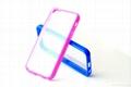 IPHONE5C dual color TPU+PC plastic
