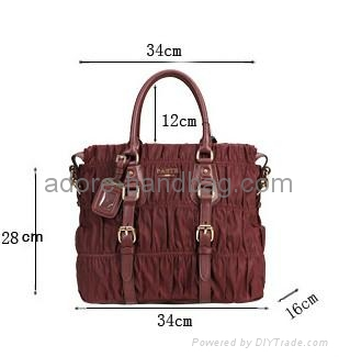2013 genuine cow leather joint with imported umbrella cloth Handbag GP1207 3