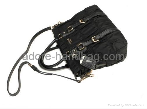 2013 genuine cow leather joint with imported umbrella cloth Handbag GP1207 4