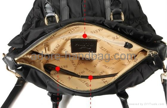 2013 genuine cow leather joint with imported umbrella cloth Handbag GP1207 5