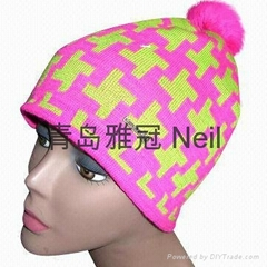 2014 new Fashion embroidered knitted hats