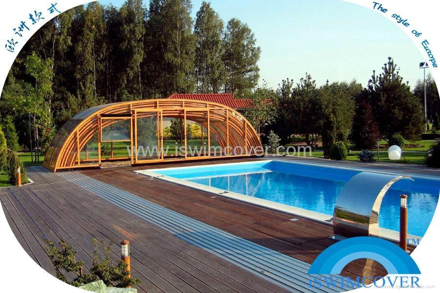 Slide garden swimming pool cover nice design pool cover for Garden swimming pool b q