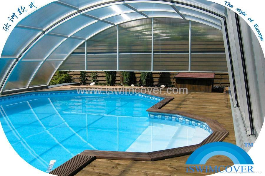 Garden pool cover slide garden swimming pool cover nice for Design pond cover