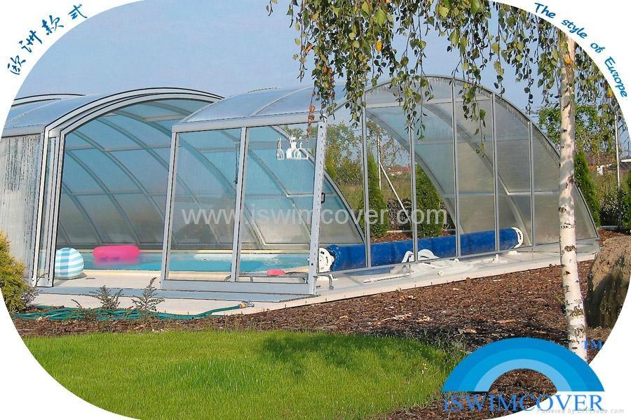 Garden pool cover slide garden swimming pool cover nice for Garden swimming pool with slide
