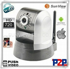 SunView 720P Wireless Surveillance Digital Zoom P2P IP Camera