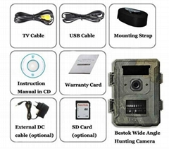 M660G -new listing hunting trail camera wide angle lens with solar panel charger