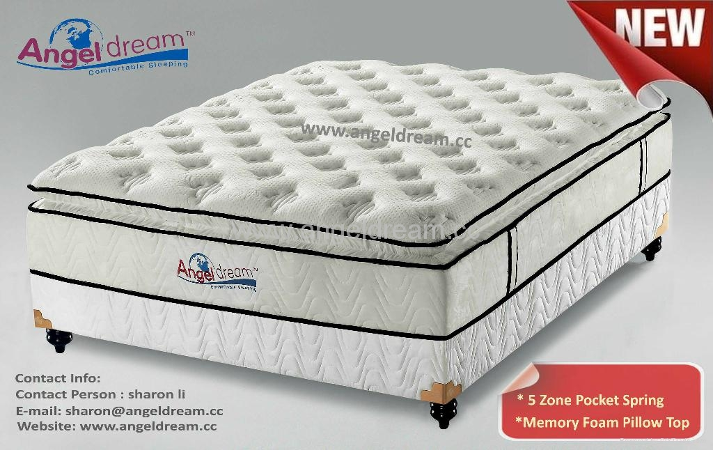 Plush Design 5 Zone Mattress Pocket Spring Mattress AD5
