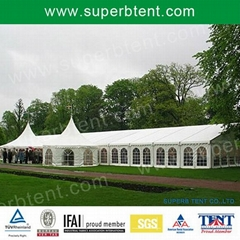 outdoor party tent with glass walls