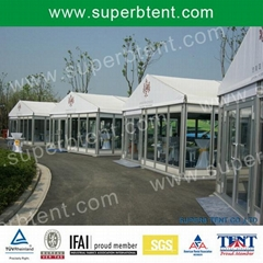 Outdoor temporary tent for events