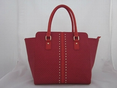 stud pu strapped tote bag for ladies