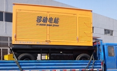 四轮移动拖车式柴油发电机组