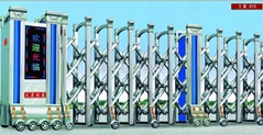 南宁红昌科技大展系列不锈钢材质电动伸缩门