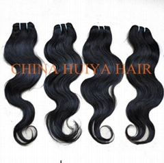 High quality remy human hair weft